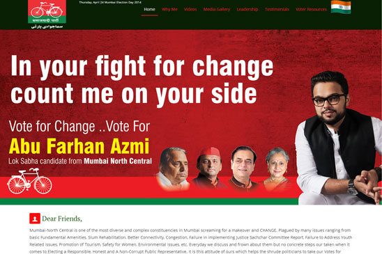 political candidate website image 1