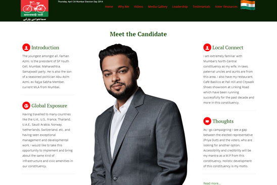 political candidate website image 2