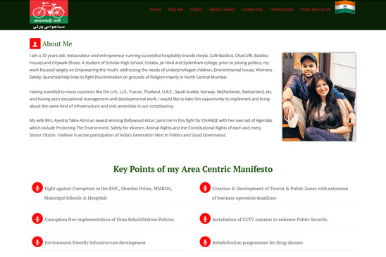 political candidate website image 3