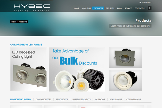LED lighting products website image 2