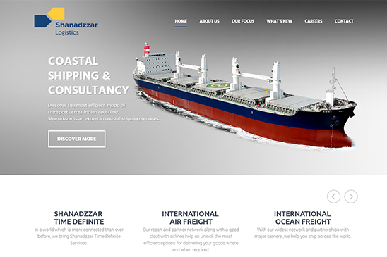 Shipping & marine company website image 2