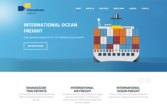 Shipping & marine company website image 1